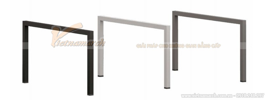 Mẫu thiết kế bàn làm việc D550 ấn tượng cho nội thất văn phòng hiện đại với kết cấu chân bàn bằng kim loại bền bỉ