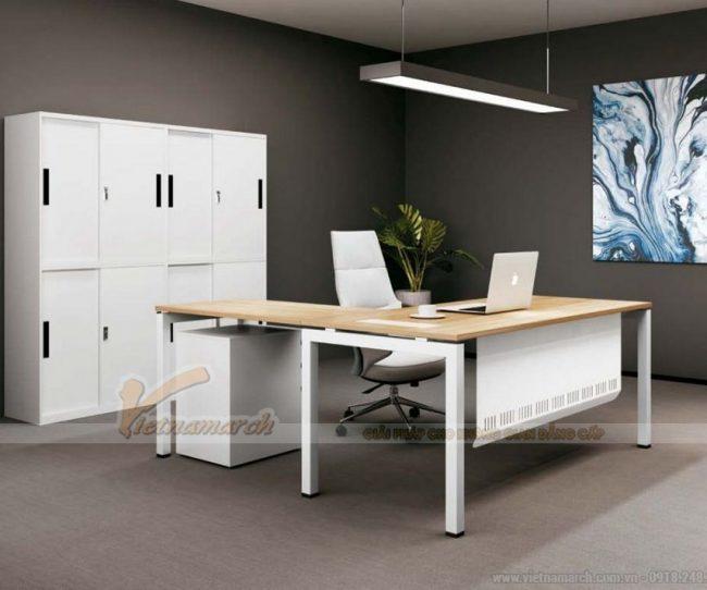 Mẫu thiết kế bàn làm việc D550 ấn tượng cho nội thất văn phòng hiện đại