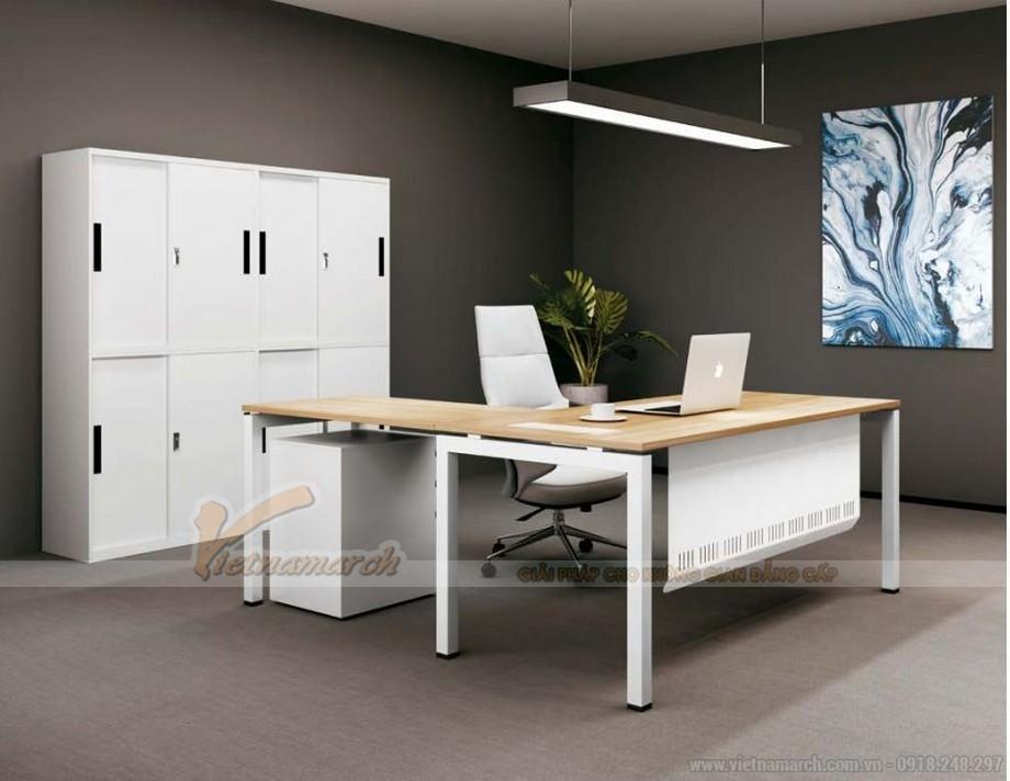 Mẫu bàn làm việc trong phòng giám đốc đơn giản hiện đại