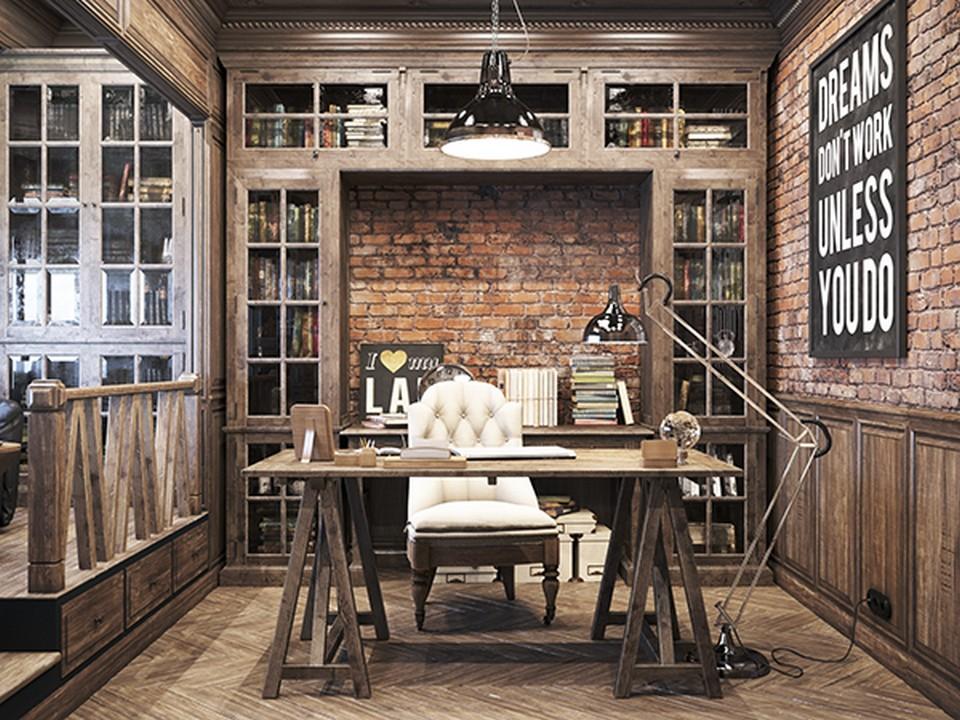 Thiết kế nội thất văn phòng theo phong cách cổ điển mang đến không gian làm việc chút hoài cổ