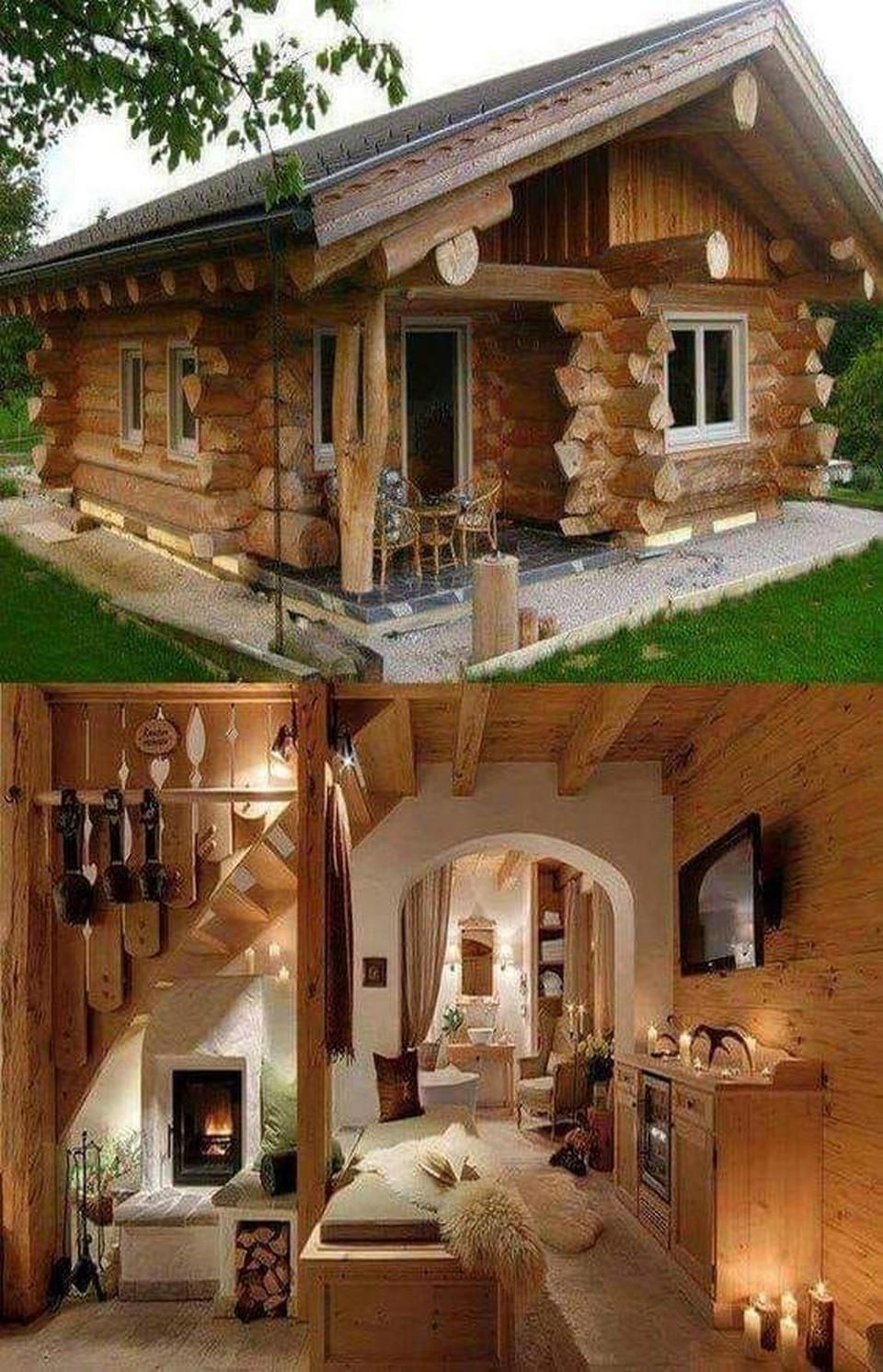 Nhà gỗ lát nguyên khúc.