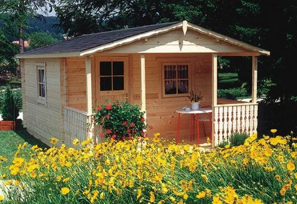 Nhà gỗ được làm hoàn toàn bằng gỗ và vật liệu tự nhiên