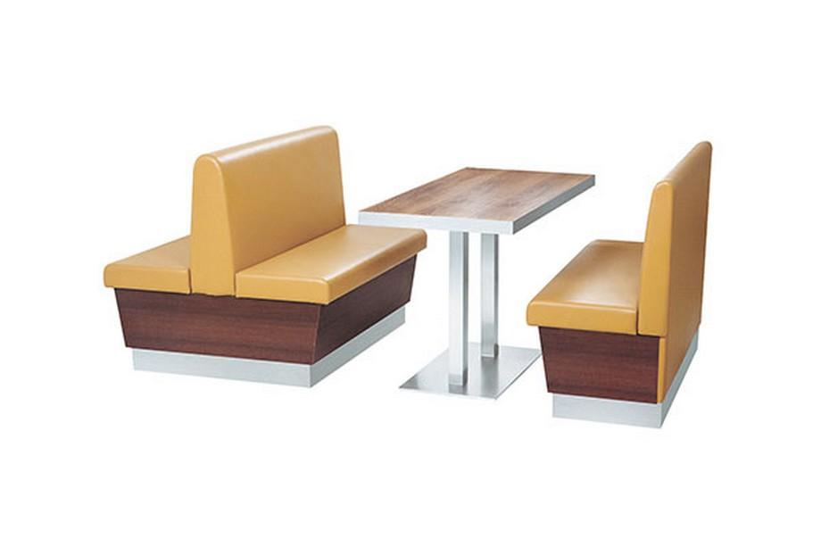 Mẫu Sofa nhà hàng nhập khẩu không tay vịn với thiết kế gọn gàng