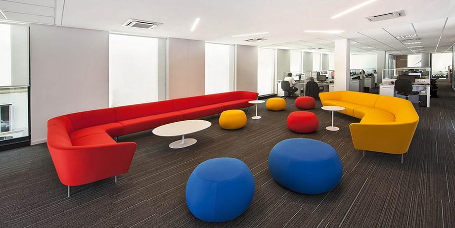 Ý nghĩa và cách phối hợp màu đỏ trong thiết kế nội thất văn phòng