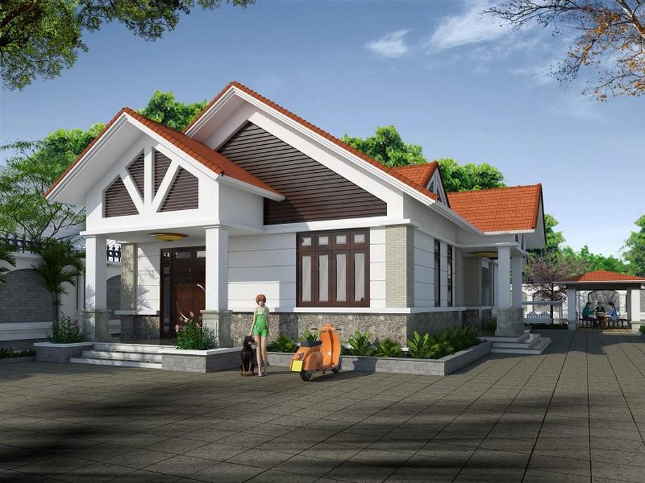 Thiết kế nhà cấp 4 mái tôn 180m2 có phòng thờ cùng 3 phòng ngủ sang trọng