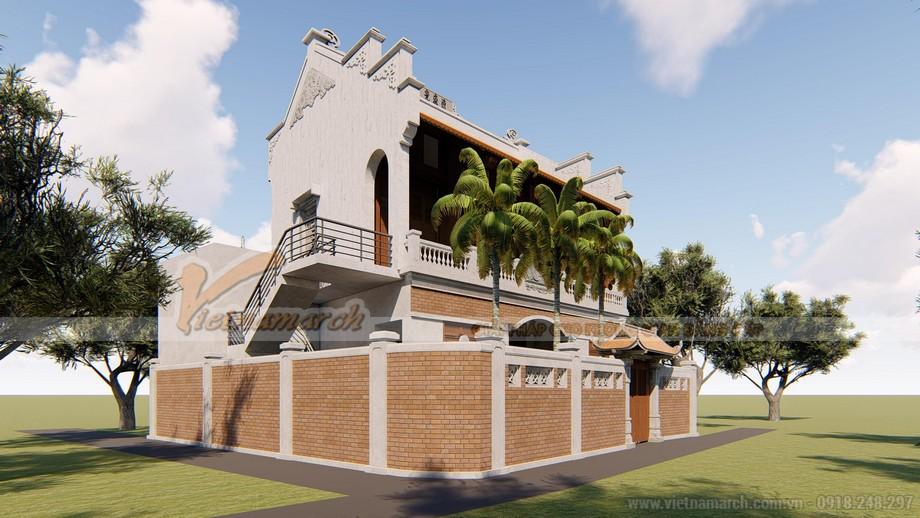 Bản vẽ 3D nhà thờ họ Vũ Tại Đà Nẵng