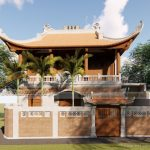 Mẫu hồ sơ thiết kế nhà thờ họ 3 gian 4 mái cong ở Nghi Lộc Nghệ An