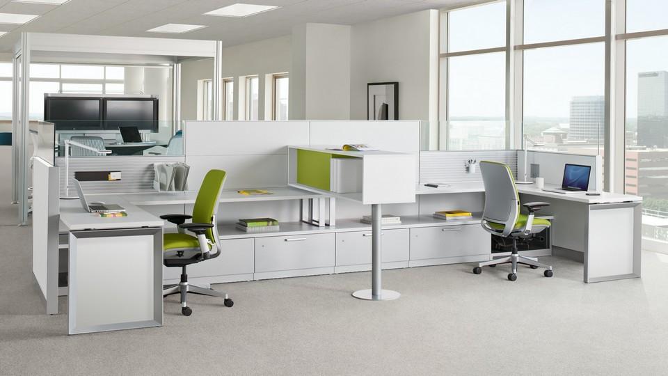 Tủ tài liệu làm vách ngăn, phân chia khu vực làm việc