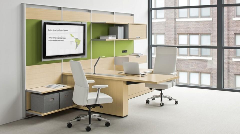 Bàn làm việc và kệ tài liệu nên lựa chọn loại tích hợp nhiều chức năng sử dụng, tiết kiệm tối đa không gian
