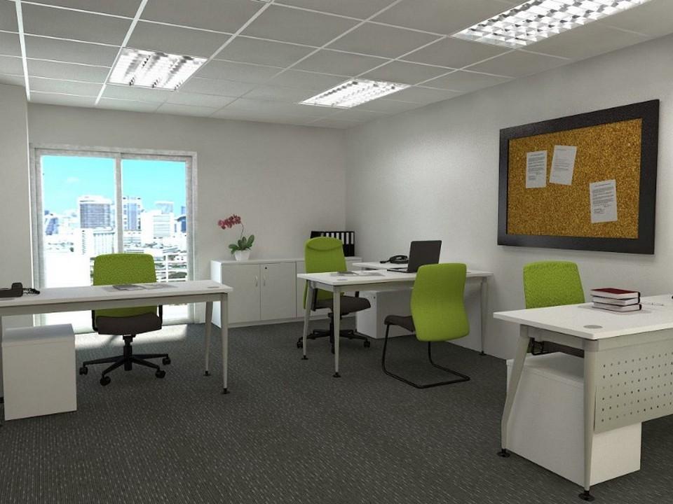 Văn phòng làm việc của công ty Start-up. Bố trí nội thất không gian làm việc mở