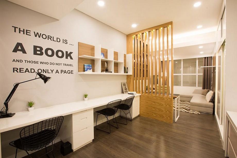 Thiết kế nội thất nhà ở kết hợp văn phòng hiện đại, ấm cúng