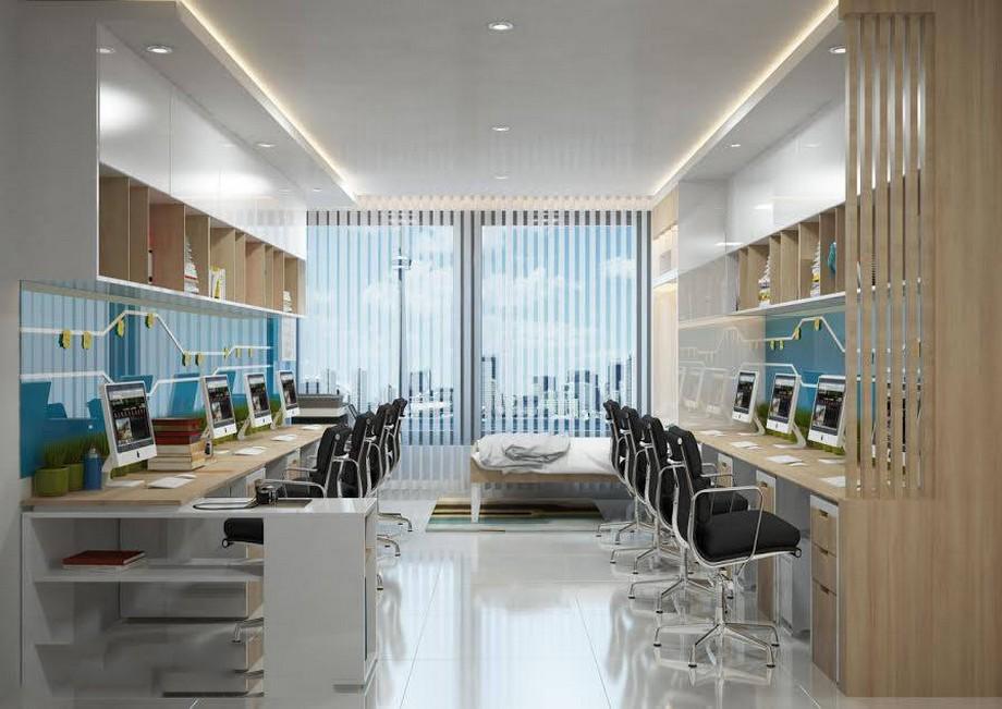 Thiết kế nội thất nhà ở kết hợp văn phòng lý tưởng