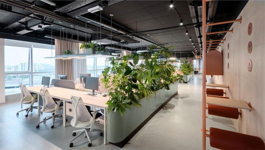 Thiết kế văn phòng sáng tạo tại văn phòng truyền thông