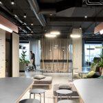 Thiết kế văn phòng truyền thông với không gian mở linh hoạt
