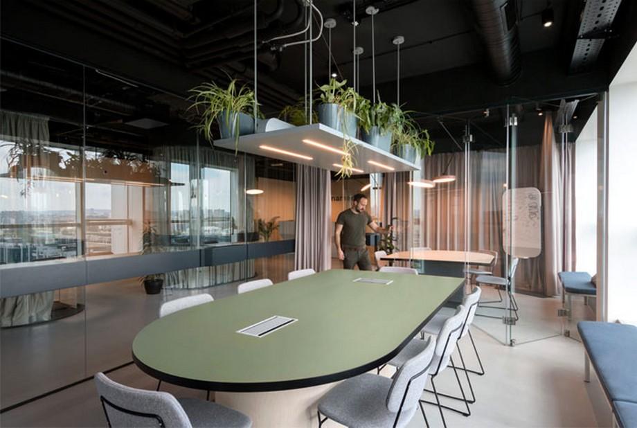 Thiết kế bàn làm việc trong phòng họp