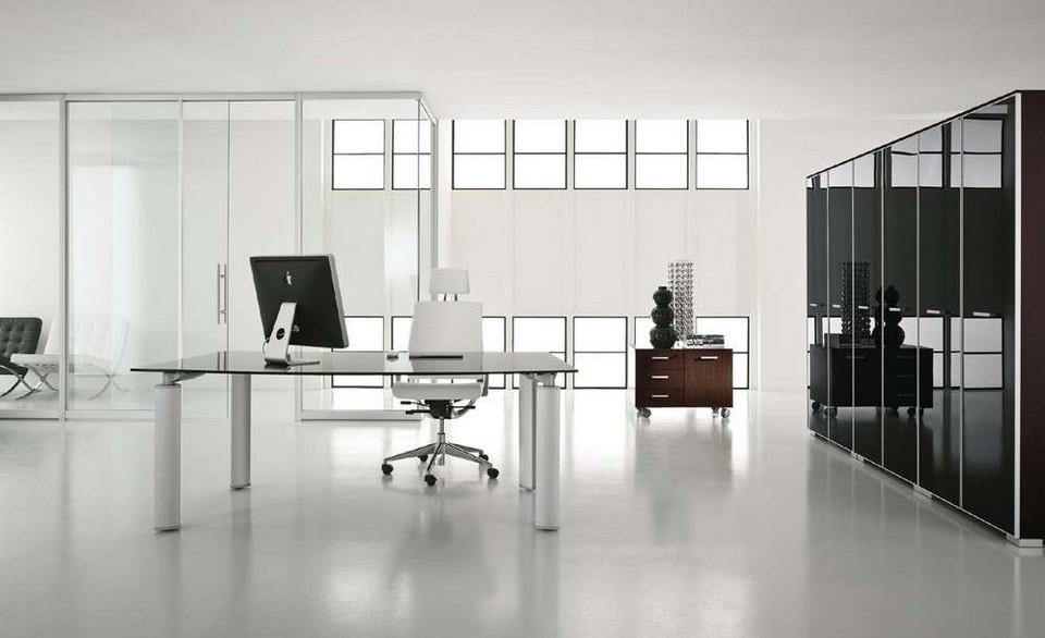 nội thất văn phòng theo phong cách tối giản hạn chế tối đa các chi tiết thừa, vật dụng trang trí như cây xanh