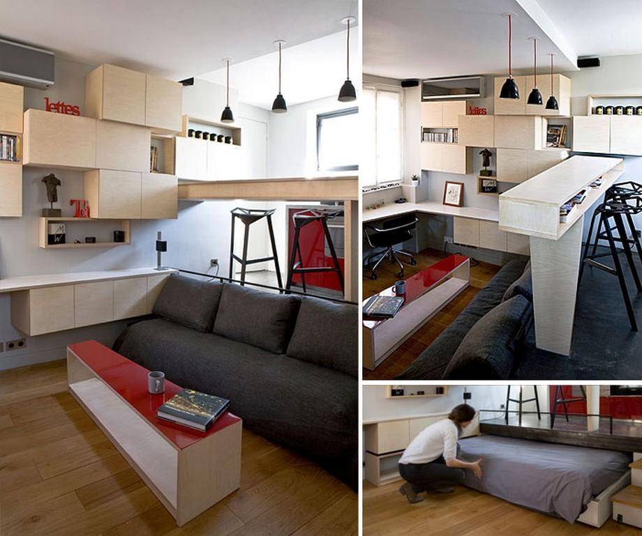 Căn hộ với thiết kế nội thất thông minh