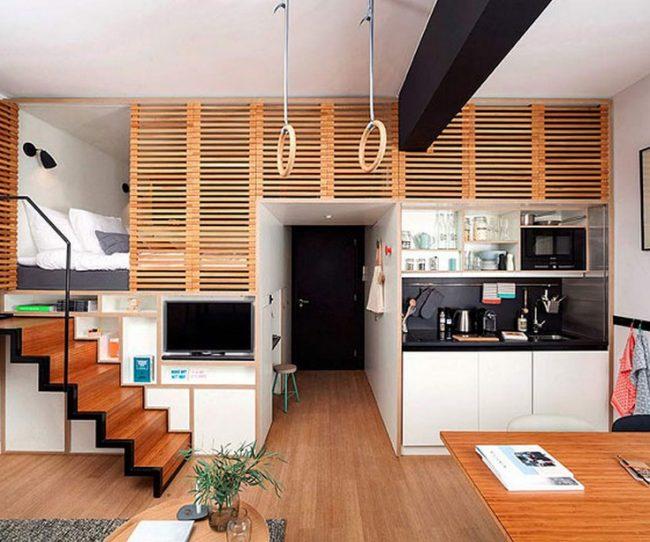 Mẫu thiết kế căn hộ studio có diện tích nhỏ