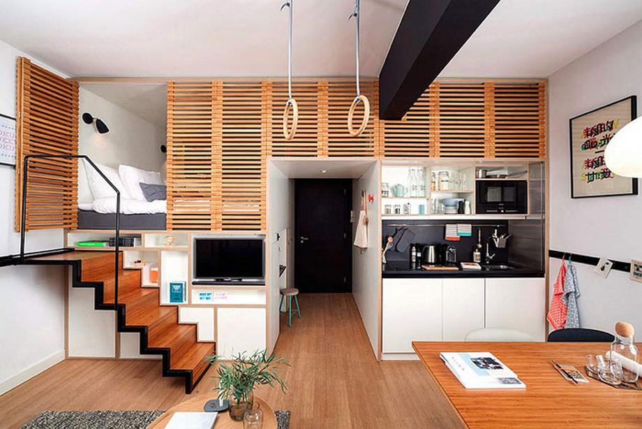 Mẫu thiết kế nhà bằng gỗ thông minh và thú vị