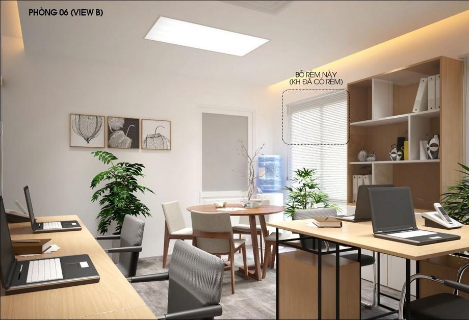 Thiết kế nội thất phòng làm việc nhỏ, hiện đại với bộ bàn ghế tiếp khách hình tròn