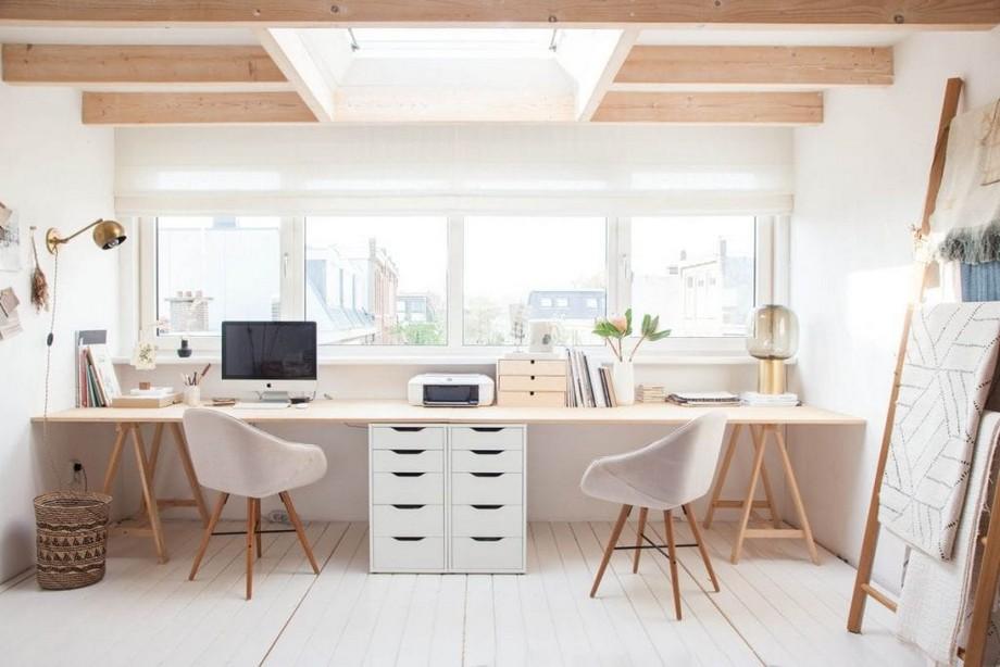 Thiết kế nội thất phòng làm việc nhỏ phong cách tối giản