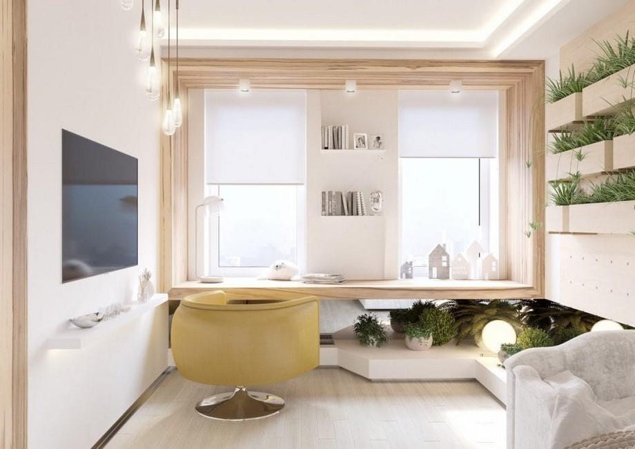 Thiết kế nội thất phong cách xanh ấn tượng cho phòng làm việc nhỏ