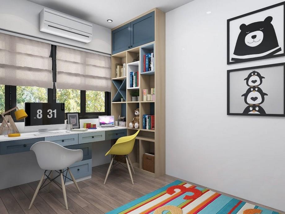 Thiết kế nội thất phòng làm việc nhỏ phong cách đáng yêu