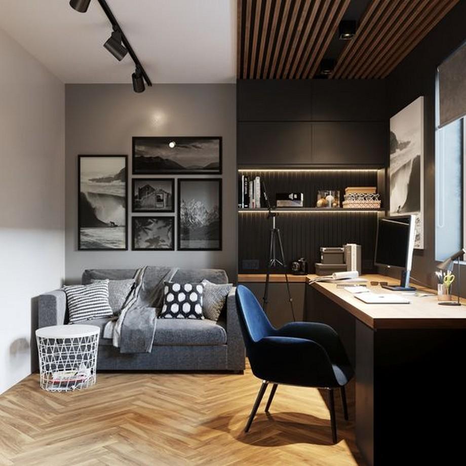 Thiết kế phòng làm việc cá nhân phong cách đương đại