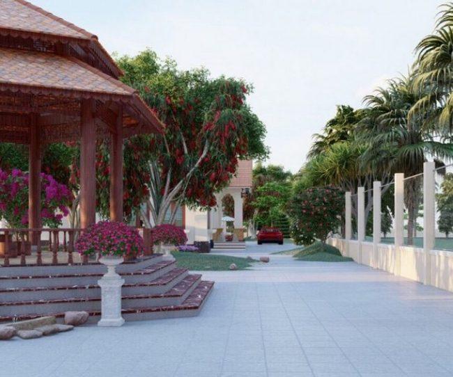 Thiết kế biệt thự với sân vườn