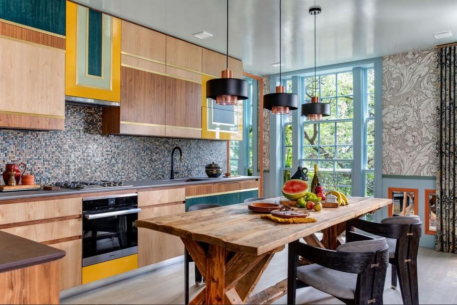 Không gian phòng bếp và phòng ăn ấn tượng