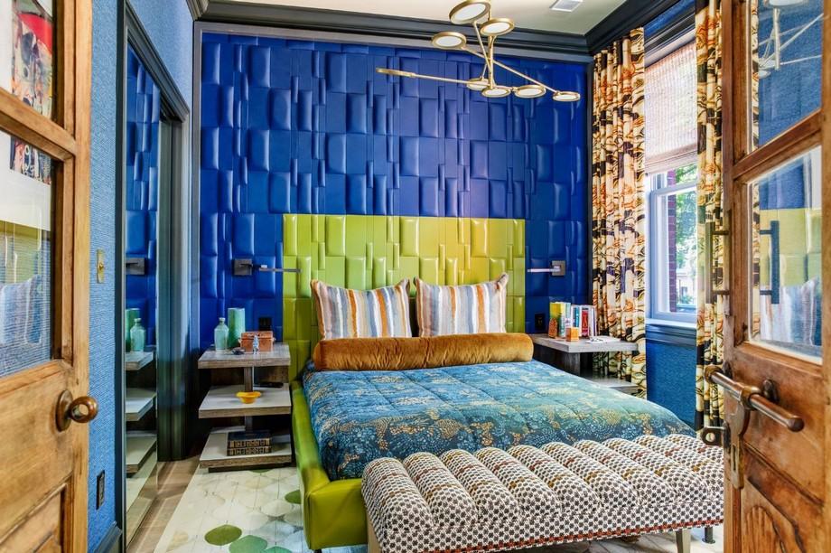 Thiết kế phòng ngủ phong cách tối đa với các họa tiết sặc sỡ