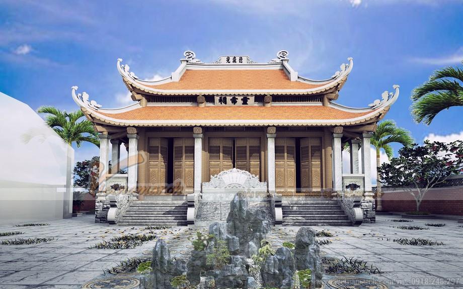 Mẫu nhà thờ 5 gian 8 mái đẹp và sang trọng tại Cao Bằng