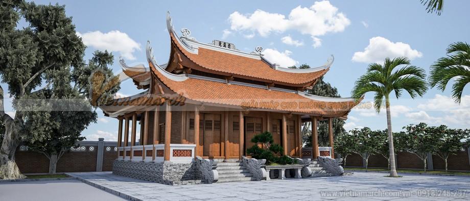 Mẫu nhà thờ họ 8 mái tại Quảng Ngãi