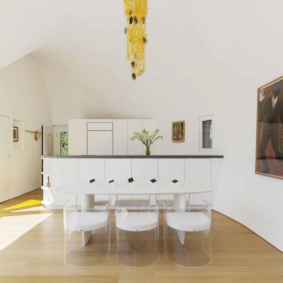 Không gian phòng bếp và phòng ăn của ngôi nhà