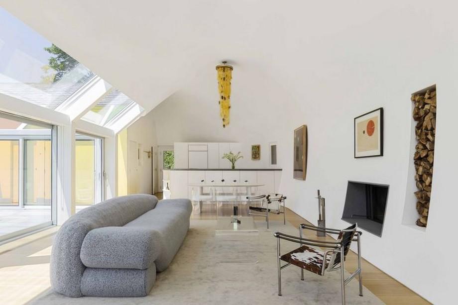 Thiết kế phòng khách tông màu sáng, tối giản