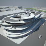 Nhà để xe bãi biển Miami của Zaha Hadid xoắn ốc