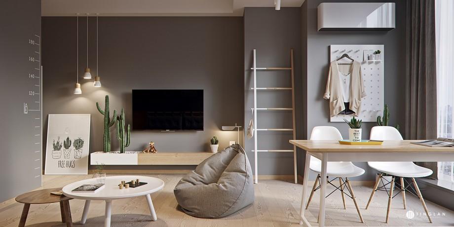 Thiết kế căn hộ chung cư với nội thất tối giản tiết kiệm chi phí