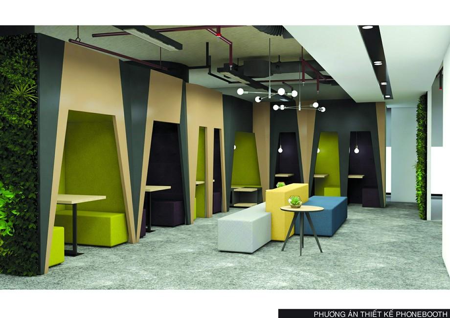 Khu phonebooth - CenXspace - Không gian làm việc riêng tư.