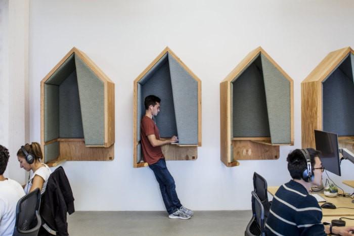 Không gian làm việc riêng tư, tối ưu diện tích.