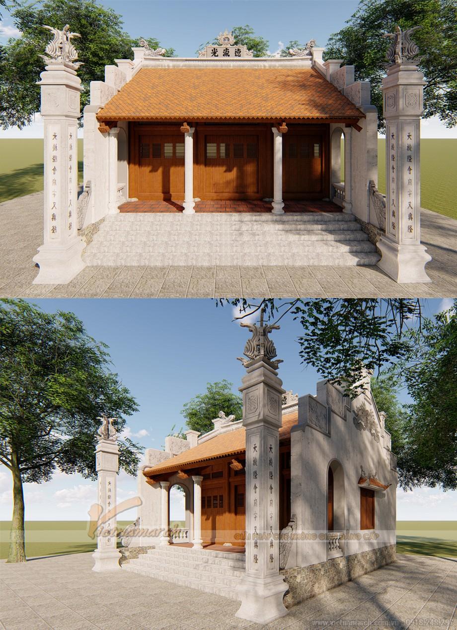 Mẫu nhà thờ họ 3 gian 2 mái