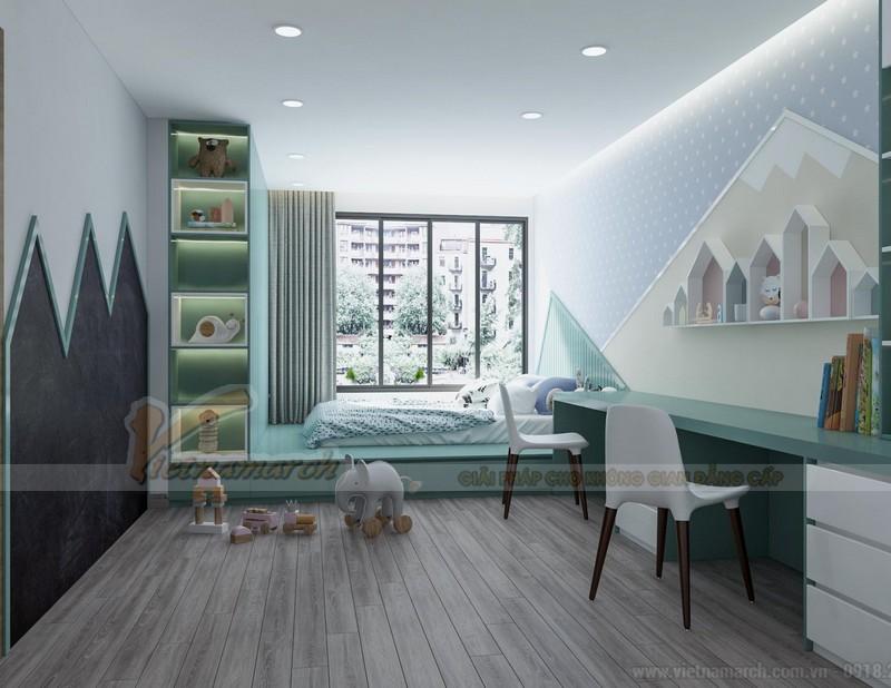 Thiết kế nội thất phòng ngủ trong chung cư diện tích lớn