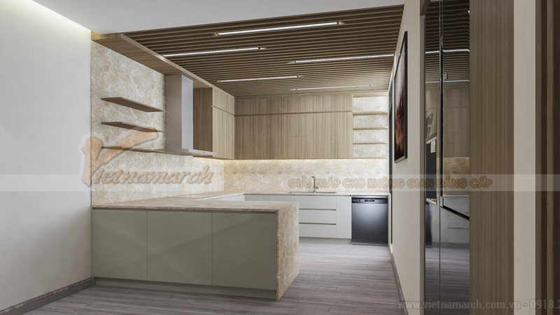 Thiết kế nội thất phòng bếp đẹp cho chung cư