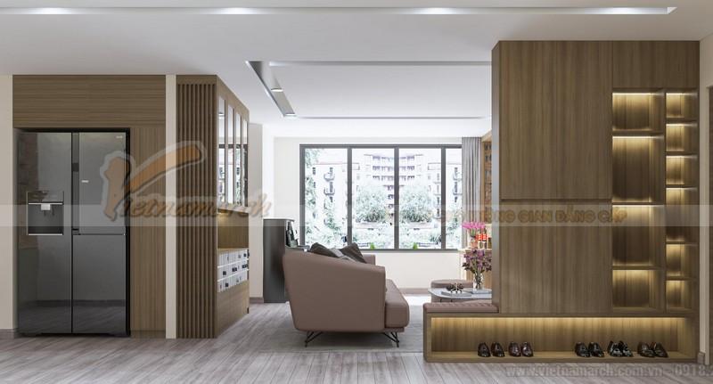 Thiết kế nội thất phòng khách chung cư 3 phòng ngủ