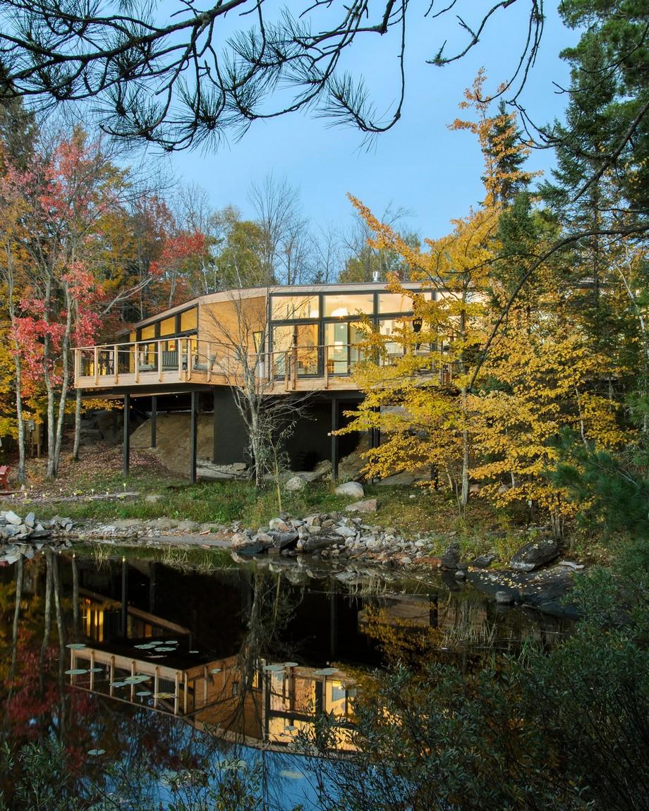 Mẫu nhà gỗ đẹp, độc đáo trong rừng