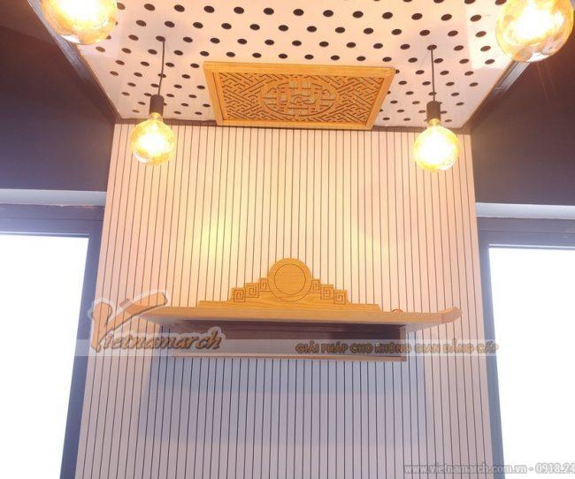 Bán bàn thờ gỗ sồi cao cấp kèm miếng dán khói hương cho chung cư Văn Quán tòa nhà New Skyline
