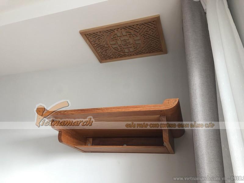 Mẫu bàn thờ đẹp được lắp đặt cho chung cư Gamuda Hoàng Mai
