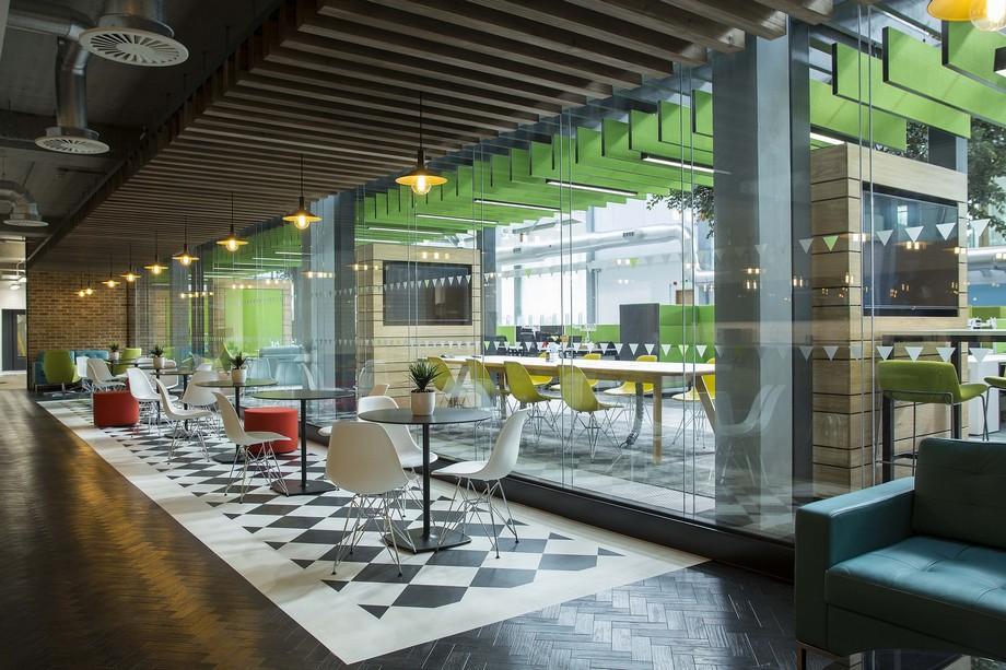 Màu xanh lá cây là màu của hòa bình ảnh hưởng tích cực tới không gian nội thất văn phòng