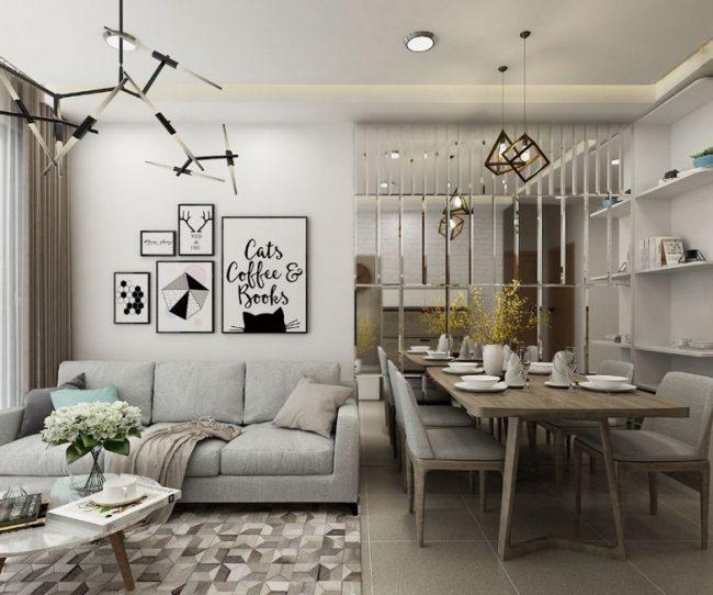 Thiết kế nội thất chung cư 2 phòng ngủ Vinhomes Smart City