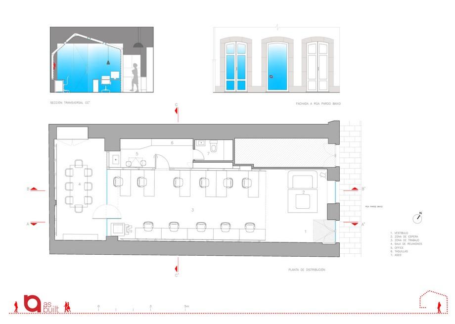 Văn phòng tráng lệ với thiết kế chiếc thuyền ngược độc đáo cùng hình khối và màu sắc thu hút tại Tây Ban Nha
