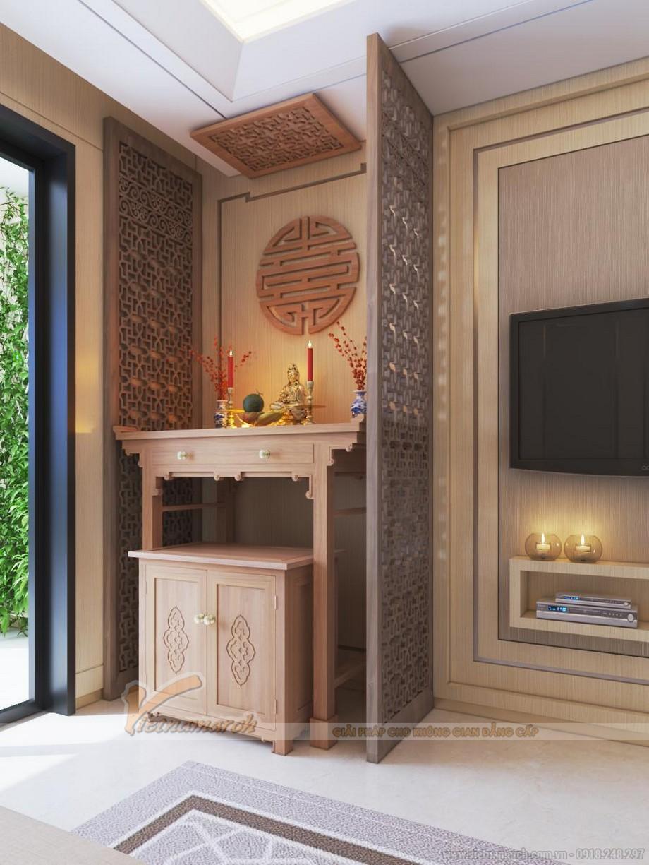 Hoặc đơn giản là chiếc tủ thờ với chất liệu gỗ đa dạng như gỗ óc chó , gỗ sồi, gỗ hương, gỗ hương đá , ..